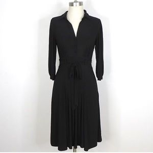 ABS Allen Schwartz black shirtdress.